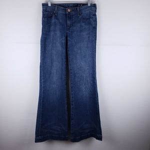 Seven7 Wide Flare Leg Embroidered Jeans Size 30